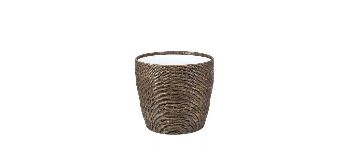 Rattan Drum Side Table